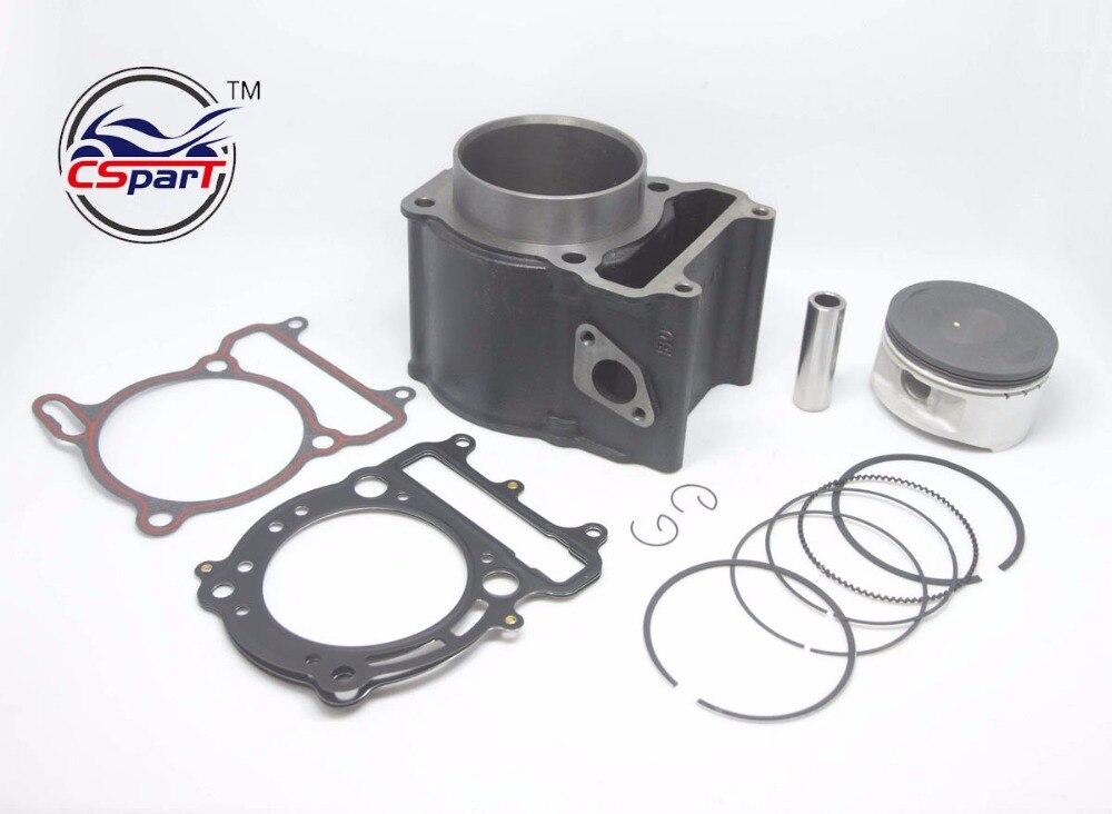 80mm 18MM Cylinder Kit  Linhai 180MQ 400 400CC YP  VOG Kinroad Buyang Gsmoon ATV Buggy Go Kart  Parts