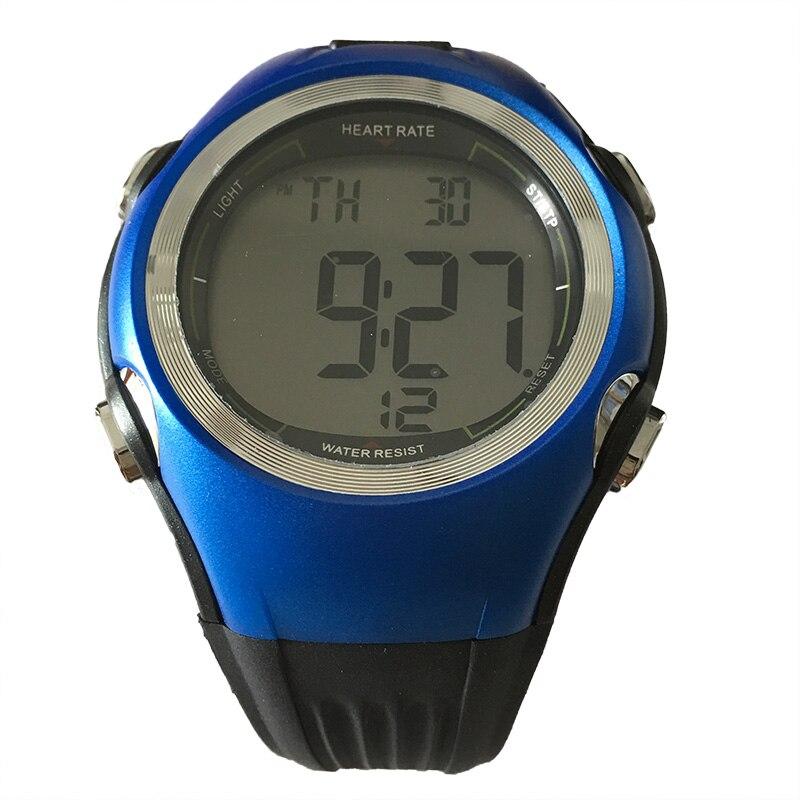 6 Fitness Pulse Calories Wireless Heart Rate Monitor Digital polar watch Men Women Sports WristWatches Running Cycling Chest Strap