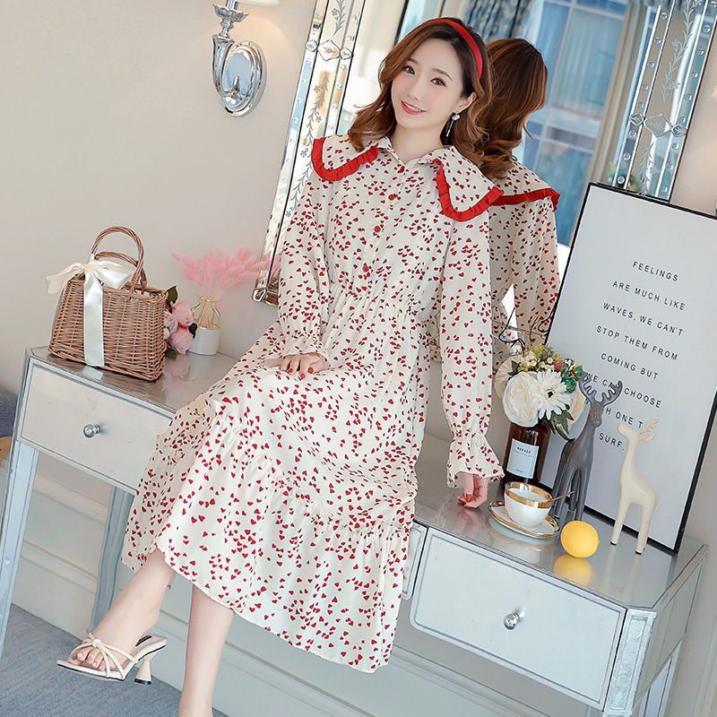 2019 Spring Summer Dresses For Pregnant Women Maternity Clothes Floral Nursing Dress Long Sleeve Breastfeeding Dress Outting