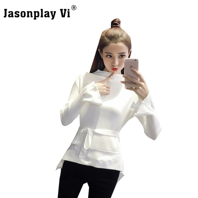 Jasonplay Vi & Fashion Slim Sweater Women 2017 Autumn Winter New arrival Pullovers Sweaters Comfort Brand Sexy Pull femme XY27