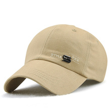 365c6472aa1 New Simple Design Cotton Mens Baseball Cap Small Letter Embroidery Hip Hop  Hat Women Outdoor Casual
