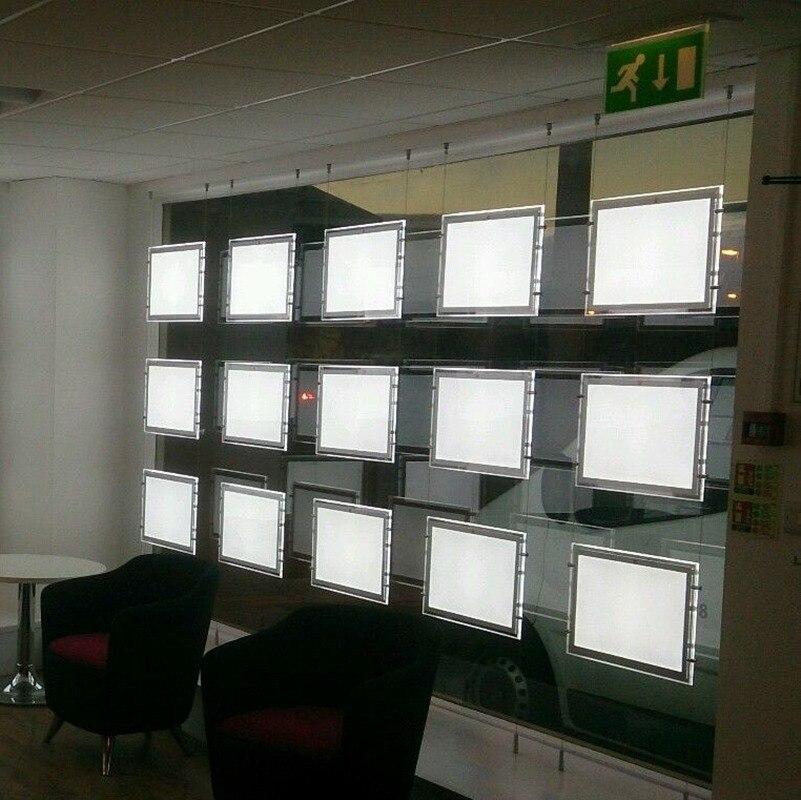LED Window Display Light Pocket Panels A4 Single Sided Illuminated ...