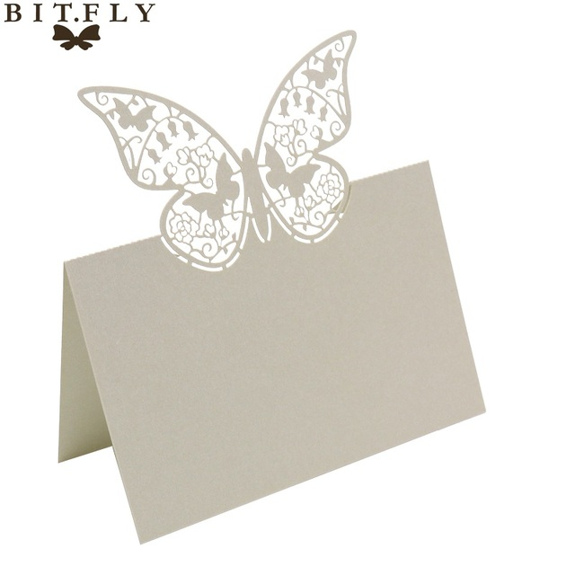 Aliexpress Buy 50 pcslot butterfly wedding invitation cards – Butterfly Wedding Invitation Cards