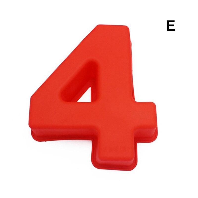 0-9 цифр, форма для торта, форма для украшения тортов, инструмент для свадьбы, дня рождения, юбилея - Цвет: 4