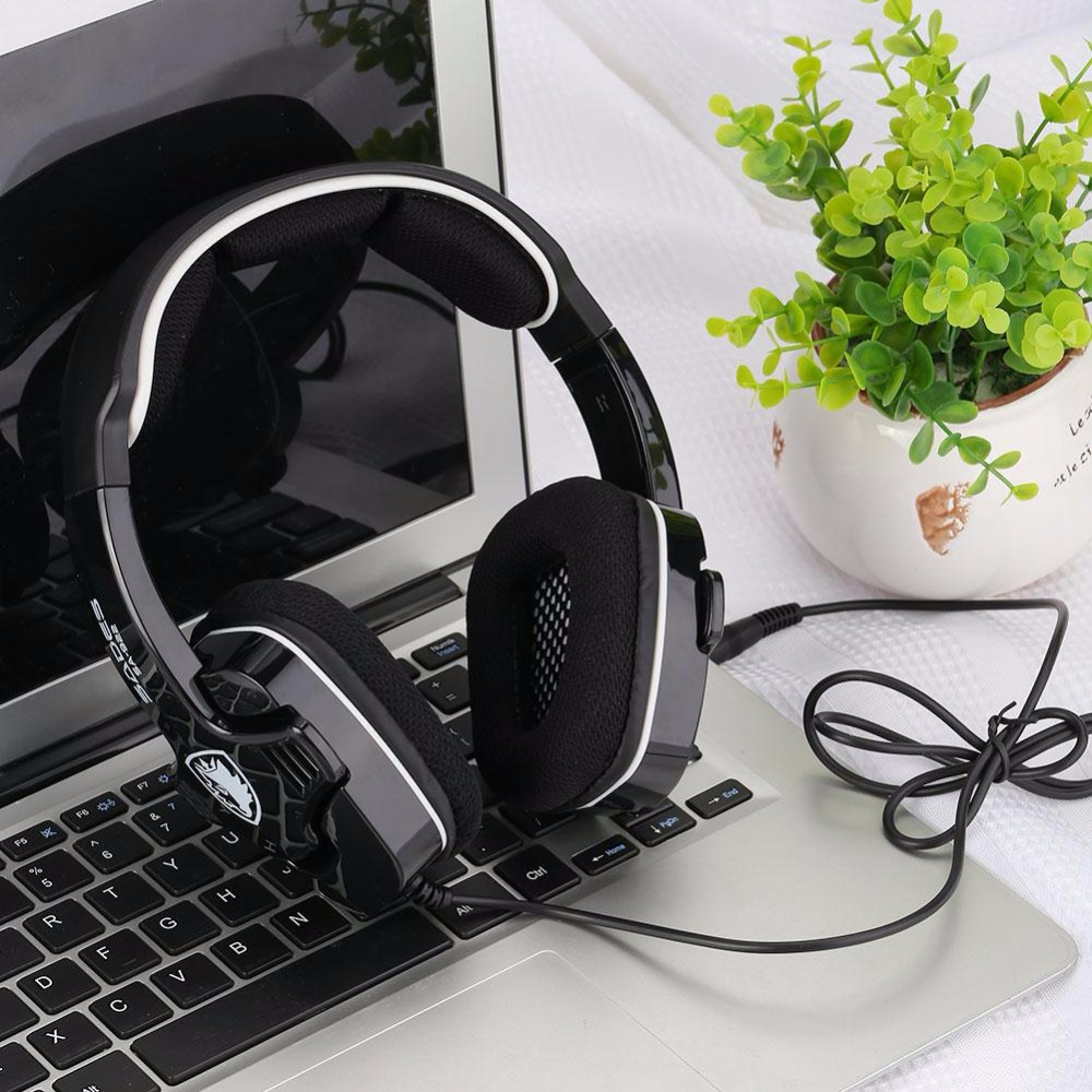 SADES SA922 3.5mm 7.1 Surround Sound Effect Headphone Gaming Headset W/ Mic Professional HiFi Super Bass Gamer Boy headphones each g1100 shake e sports gaming mic led light headset headphone casque with 7 1 heavy bass surround sound for pc gamer