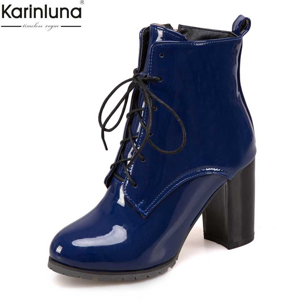 Karinluna 2019 dropship Plus ขนาด 31-50 รองเท้าผู้หญิงรองเท้าข้อเท้ารองเท้าแฟชั่นรองเท้าส้นสูง lace up ผู้หญิงรองเท้ารองเท้า