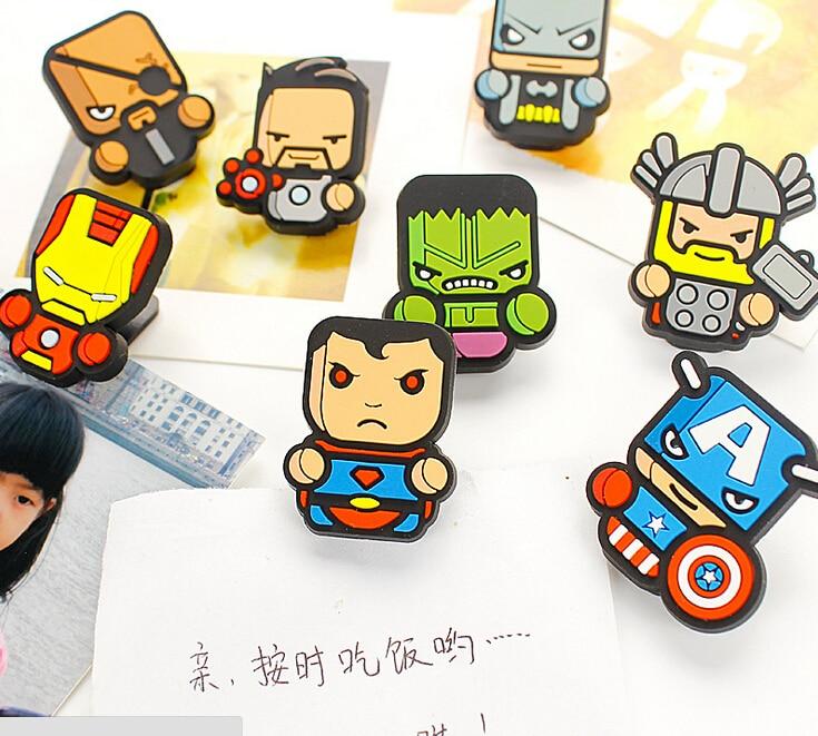 Humor Marvel Super American Heroes Pvc Food Sealing Clip Memo Clip Paper Clip Desktop Decorative Crafts School Office Supply Clips Office & School Supplies