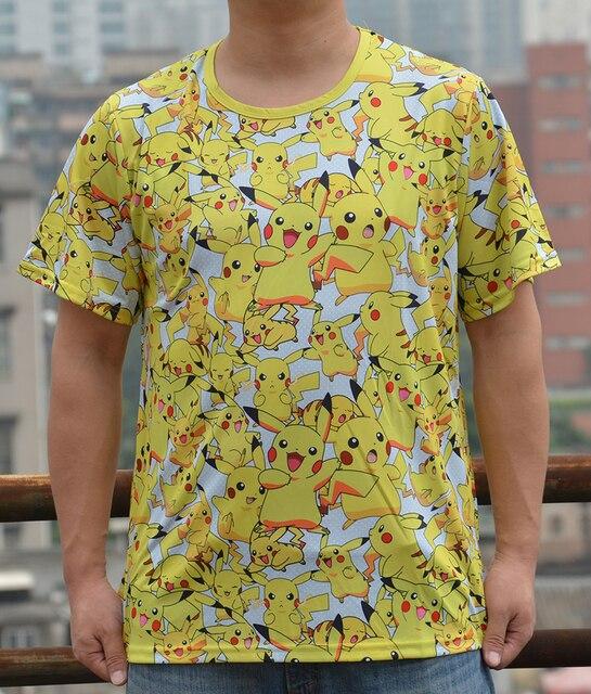 Аниме футболка с пикачу Покемоны