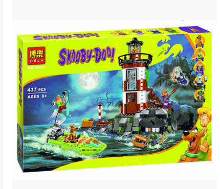[TOOL] Scooby-Doo series of Scooby Doo 75903 haunted lighthouse assembling building block toy 10431 Free Shipping #0045 scooby doo team up