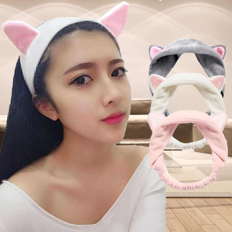 1PC New Cute Fashion Women Girls Cartoon Cat Ears Soft Cotton Headband Hairband Party Halloween Headdress Hair Accessories
