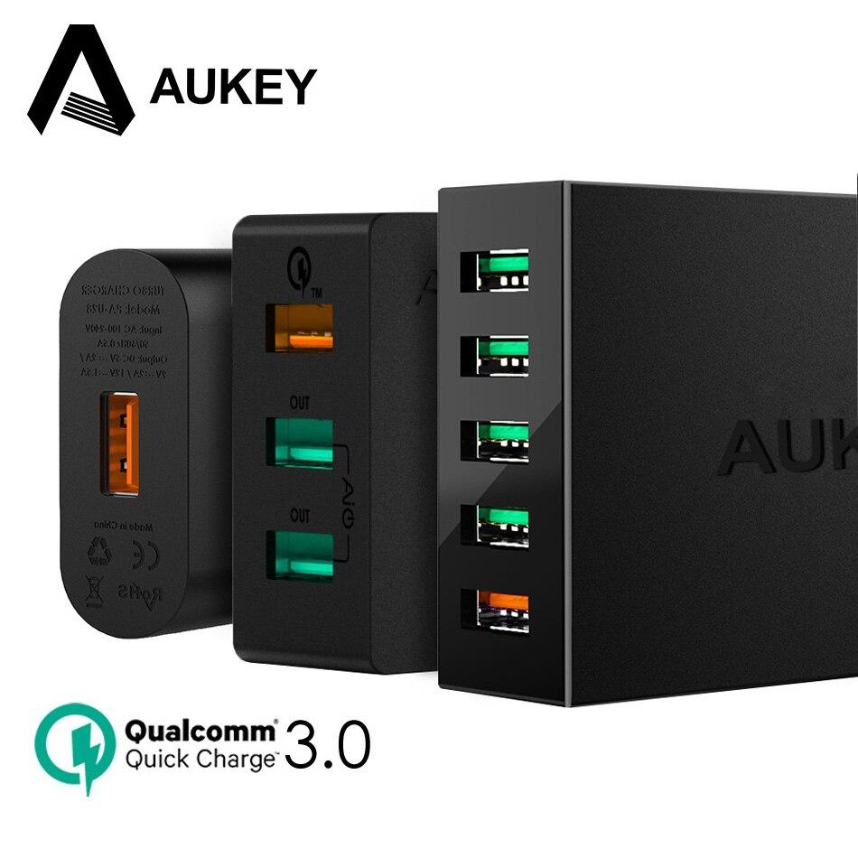 AUKEY Quick Charge QC 3,0 Schnelle USB Ladegerät Handy Für Xiaomi redmi 5 Universal Bewegliche Energienbank Ladegerät Für Telefon