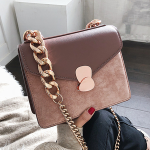Image 1 - Luxury Handbag Retro Fashion lady Square bag 2020 New Quality PU Leather Womens Designer Handbag Chain Shoulder Messenger Bags