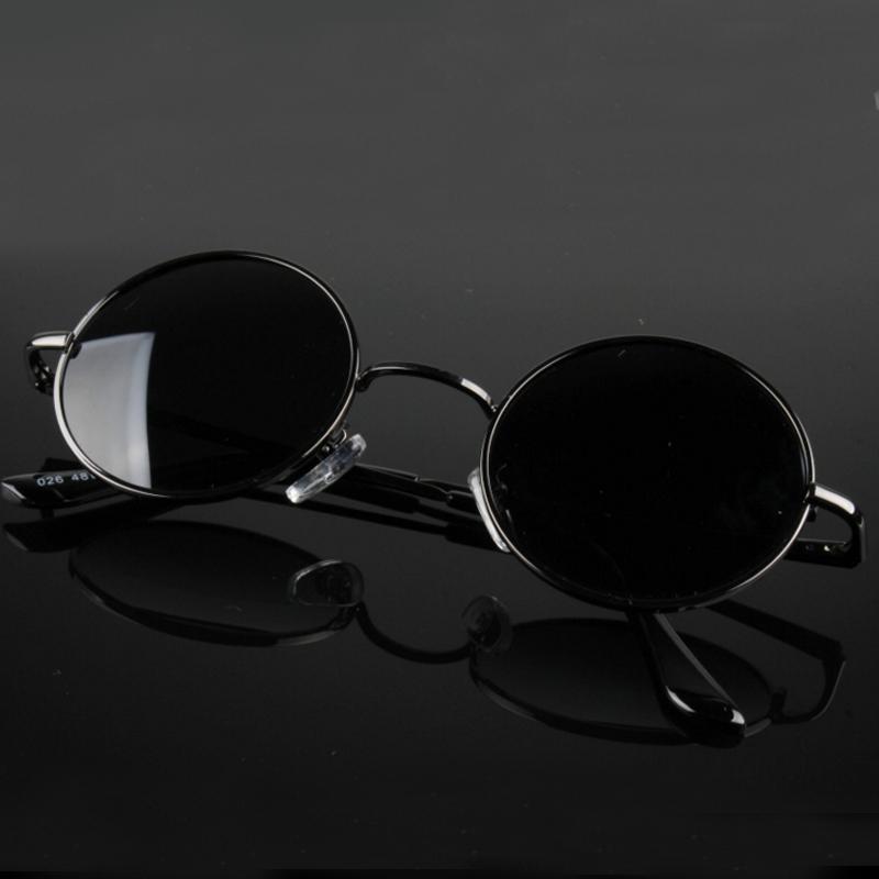 HTB1coLLRXXXXXaSXFXXq6xXFXXXj - FREE SHIPPING Polarized sunglasses vintage sunglass round sunglasses Black Lens JKP412