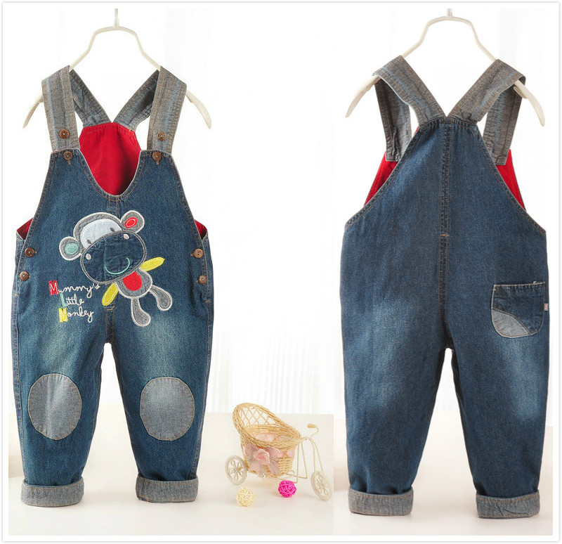 High Quality 2016 Spring baby rompers Animal Boy's Girl's Jumpsuit Cartoon Denim Overalls infant costumes Baby Clothing  CC045 iyeal baby girl clothing spring 2017 bebe jeans overalls lace rompers infantil jumpsuit for toddler infant denim coveralls