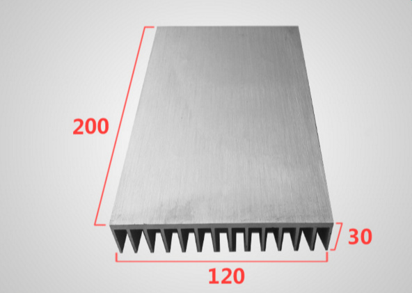Fast Free Ship 120*30*200MM High-power aluminum radiator fin aluminum radiator aluminum Heatsink 200pcs lot 0 36kg heatsink 14 14 6 mm fin silver quality radiator