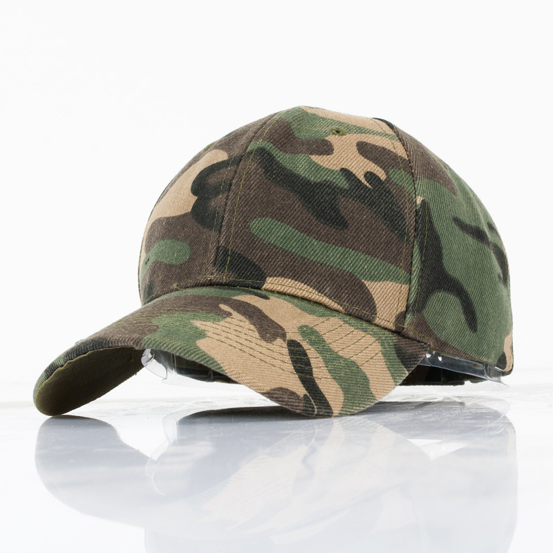 Fashion Camouflage casual outdoor fishing hat couple men and women geometric Army Green  baseball cap fashion rivets cotton polyester fiber men s flat top hat cap army green