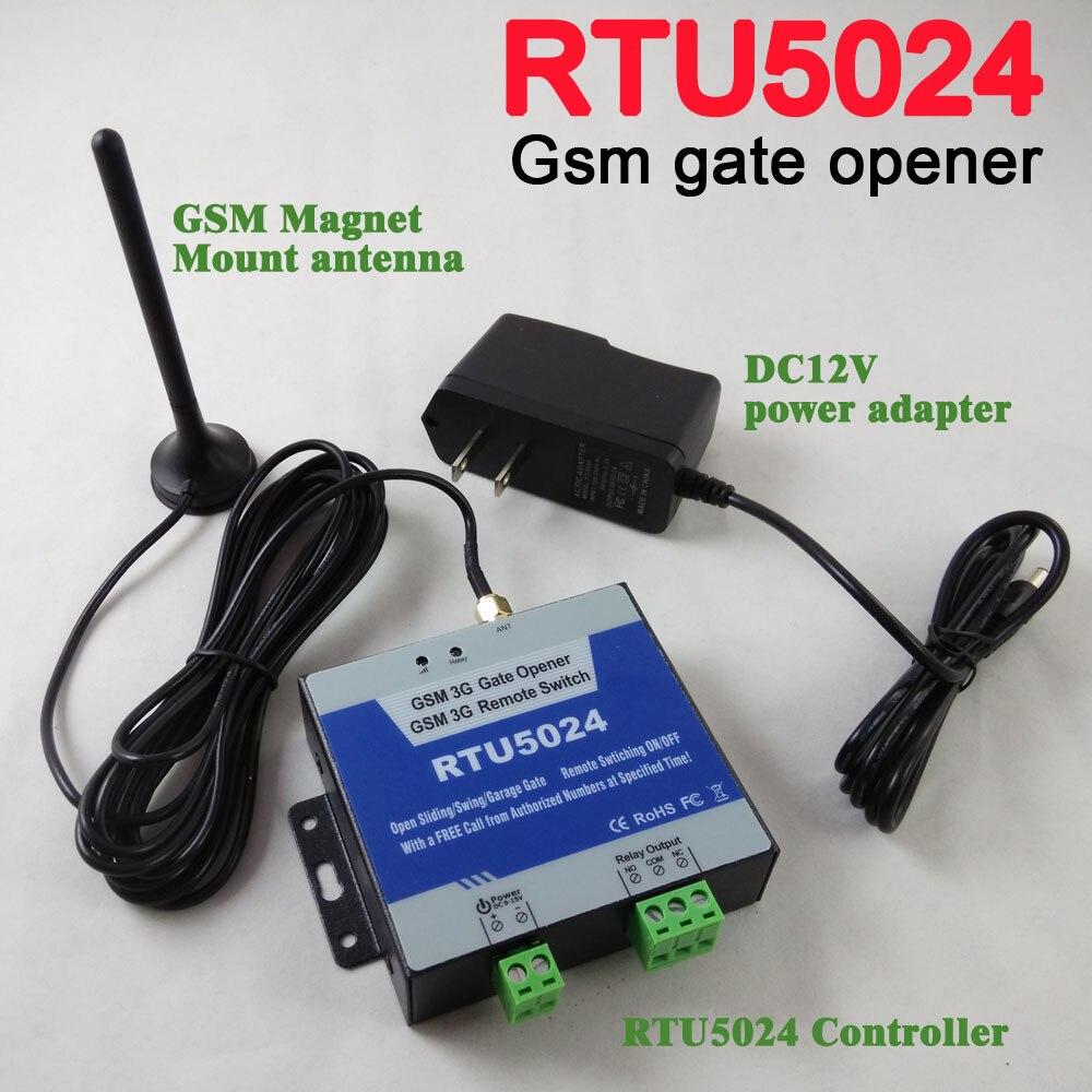 Livraison gratuite RTU5024 GSM automatique porte de Garage balançoire porte coulissante ouvre-porte GSM accueil télécommande contrôleur App support