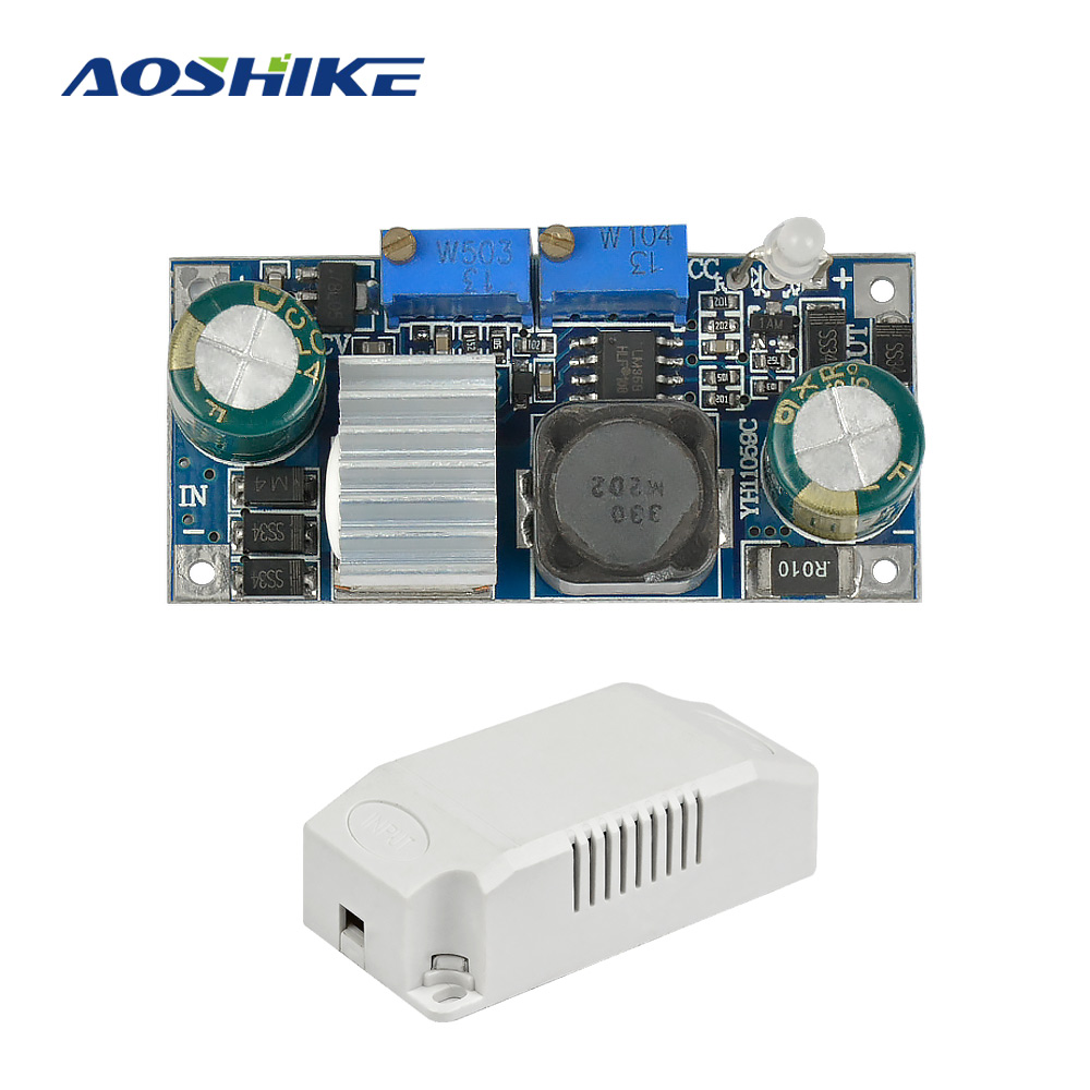Aoshike DC-DC 5A 36W Buck Constant Current Inverter Board Lithium Battery Universal Charging LED Driver Solar Regulator Module