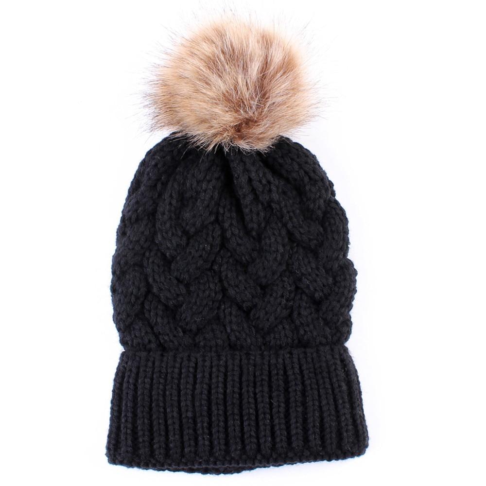 #4 DROPSHIP 2018 NEW HOT Fashion Women Keep Warm Winter Hats Knitted Wool Hemming Hat Freeship
