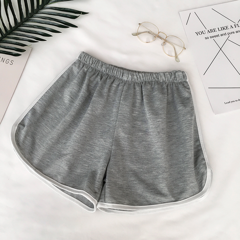 HTB1coLcRgHqK1RjSZJnq6zNLpXae - Simple Women Casual Shorts Patchwork Body Fitness Workout Summer Shorts Female Elastic Skinny Slim Beach Egde Short Hot