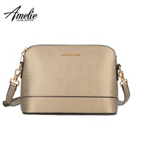 AMELIE GALANTI Small crossbody bags for womens 2018 Famous Design Small Shoulder Bag Hard Shell Solid Patchwork Spring Summer Top-Handle Bags