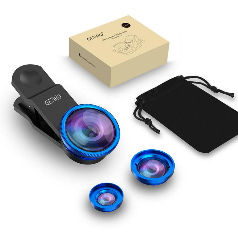 Universal Fisheye Lens 3 in 1 Mobile Phone Clip Lenses Fish Eye Wide Angle Macro Camera Lens for Smartphone iPhone 6 Microscope 10