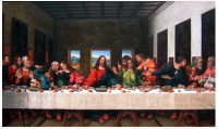 World Famous Painting The Last Supper Leonardo Da Vinci Painting Core Christian Church Wall Painting
