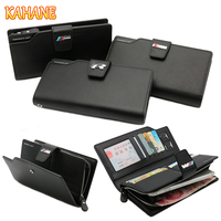 KAHANE Genuine Leather Man Wallet Car Driver License Bag Credit Card Bag For Audi A3 A4
