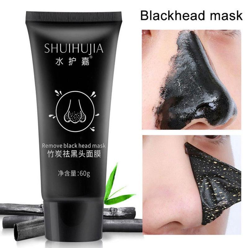 Bamboo Charcoal Black Dots Remover Mask Blackhead Cream Removing Black Head Remover Face Mask Cream Fade Fleck Whitening Mask