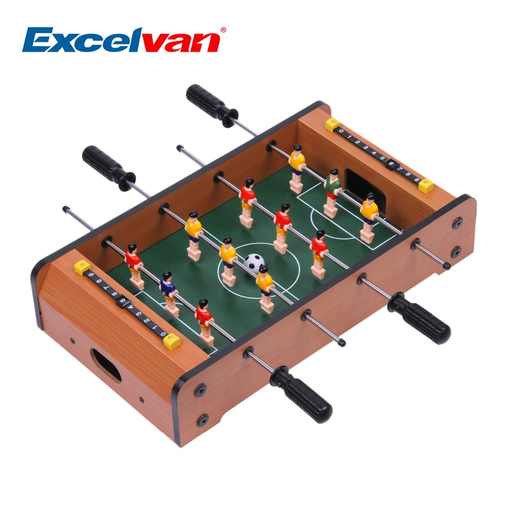 Beautiful Excelvan Mini Table Top Foosball 13 Inches Soccer Game Table 13.58 * 8.46 *  3.15 Inches