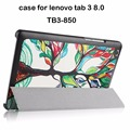 For Lenovo tab 3 8 8.0 TB3-850F 850M 850X 8'' tablet case for lenovo tab 3 tablet cover cases+screen protector+stylus
