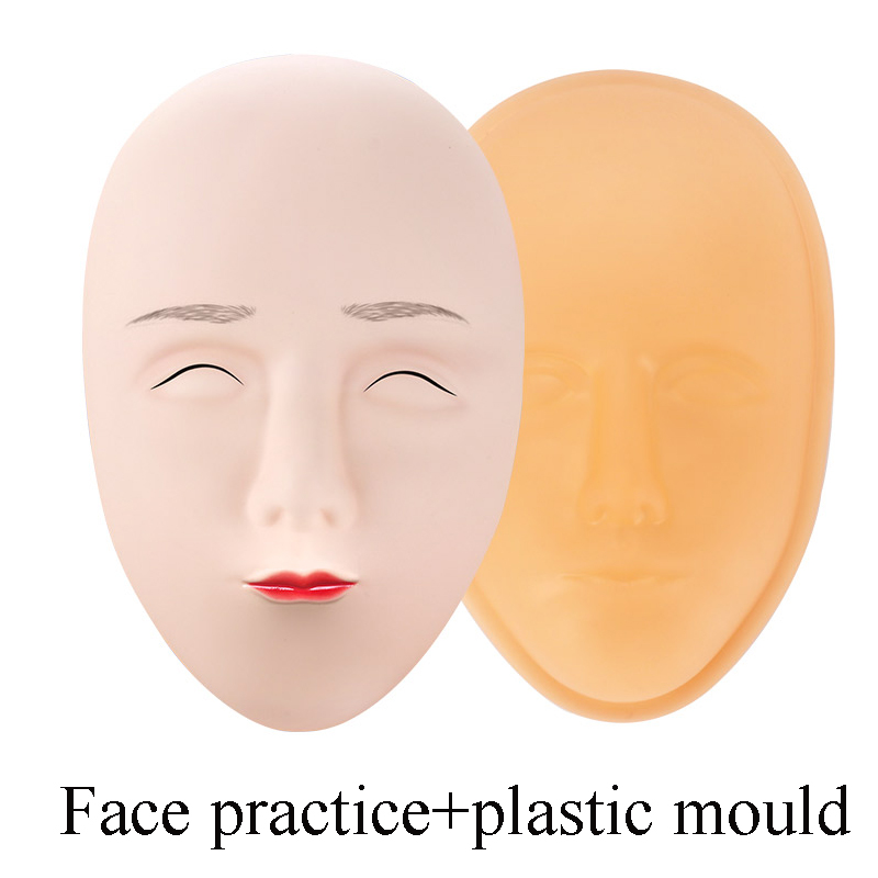 24cc3f554 Silicone Tattoo Microblading Practice Skin 3D Permanent Makeup Eyebrow Face  Practice Skin Tools Microblading Accesories Supplies