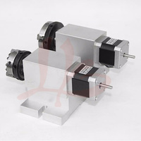 No Tax To Russia Rotary Axis 3 Jaw Chuck 65mm CNC 4th Axis Harmonic Drive For