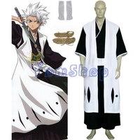 Anime Bleach 10th Division Captain Hitsugaya Toushirou Cosplay Kimono Uniform Suit Men's Costumes Custom made free shipping