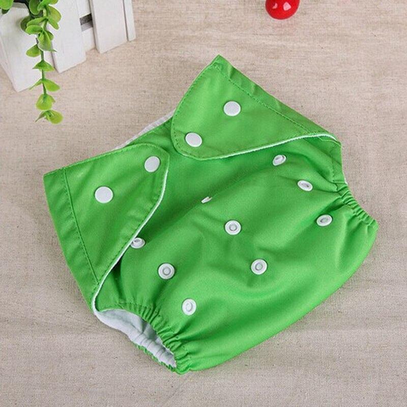 1 шт., регулируемые многоразовые тканевые подгузники для маленьких мальчиков и девочек, мягкие чехлы для младенцев, моющиеся подгузники - Цвет: Зеленый