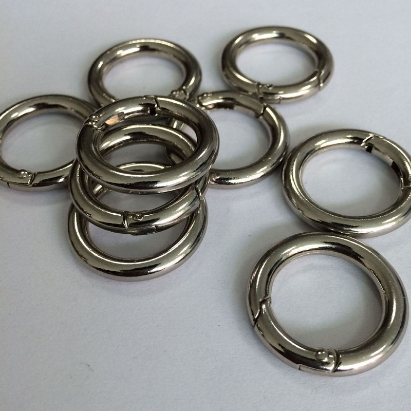 6pcs Silver Circle Round Carabiner Camping Spring Snap Clip Hook Keychain Camping Climbing Hiking Outdoor physics book page 7