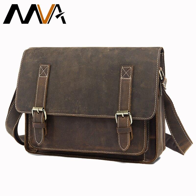 Men's shoulder crossbody laptop man bag work genuine leather briefcase business bags men's messenger bag male for documents 1055