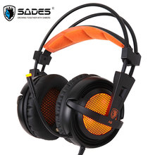 Sades A6 Gaming Headphones casque 7.1 Surround Sound Stereo USB Game Headset with Microphone Breathing LED Lights for PC Gaming цены онлайн