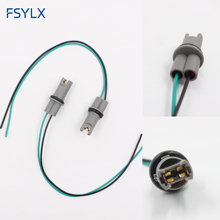 FSYLX Car styling OEM 30CM T10 led bulb socket holder T15 W5W 194 168 wire Cable adapter Plug Connector T10 Auto Bulb adaptor