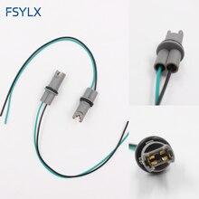 FSYLX Car styling OEM 30CM T10 led gniazdo żarówki uchwyt na T15 W5W 194 168 drutu adapter do kabla złącze wtykowe T10 żarówka adapter