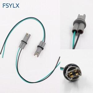 Image 1 - FSYLX רכב סטיילינג OEM 30CM T10 led הנורה שקע מחזיק T15 W5W 194 168 חוט כבל מתאם תקע מחבר t10 אוטומטי הנורה מתאם