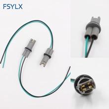 Fsylx estilo do carro oem 30cm t10 led bulbo soquete titular t15 w5w 194 168 fio cabo adaptador plug conector t10 adaptador de lâmpada auto