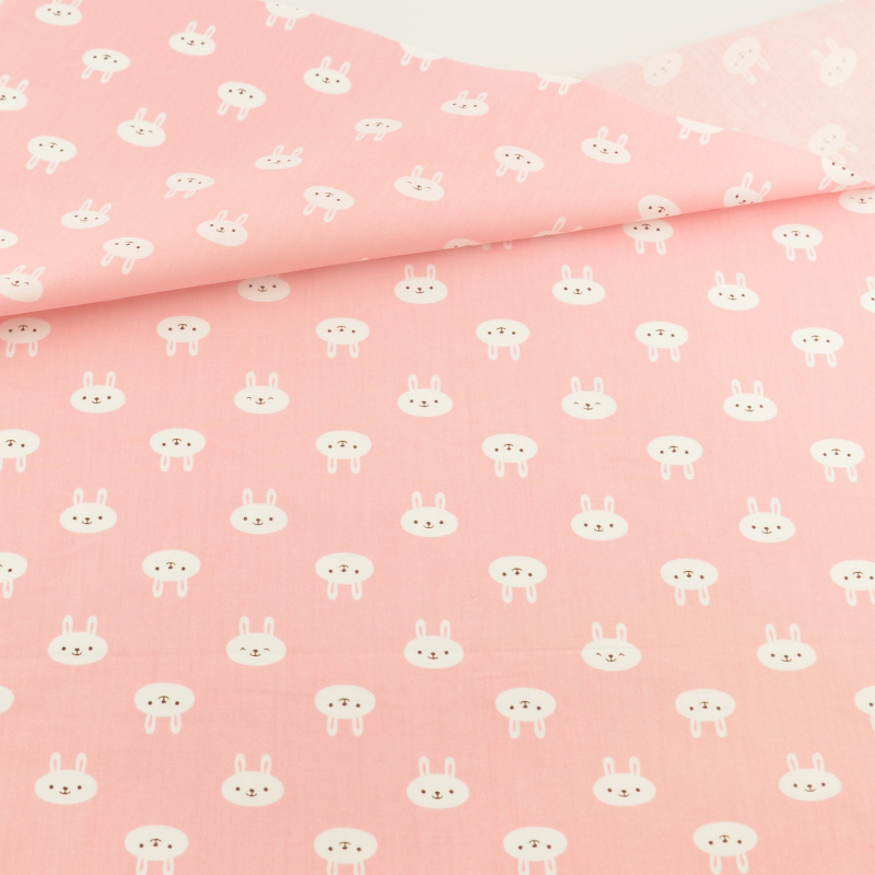 Teramila Fabrics Tecido Patchwork Bedding Decoration Tissue  Pink Rabbit Cotton Fabric Quilting Home Textile Sewing Cloth Craft