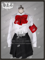 Anime Persona 3 Shin Megami Tensei Mitsuru Kirijo Anime Cosplay Costume Shirt+Tie+Skirt D