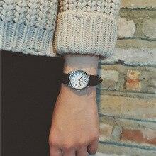 Vintage Style Women Leather Quartz Watch Casual Lady Girl Wristwatch Wild style Women Dress Watch Little Dial Relogio Feminino