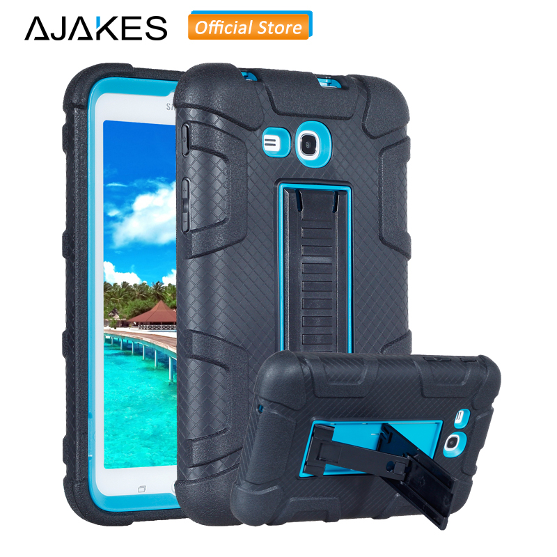 Case For Samsung Galaxy Tab 3 Lite/Tab E Lite 7.0 Kids Kickstand Hybrid Heavy Duty Shockproof Case for SM-T110 T111 T113 T116 alabasta kids shockproof rugged heavy duty silicone pc case cover for samsung galaxy tab 3 lite 7 0 sm t110 t111 t113 t115