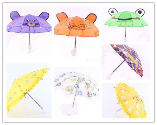 Кукла Аксессуары, 7 dieeerent новый стиль популярные Дождь Зонтик fit 18 American Girl Куклы, лучший подарок для дети N272-N277/N281