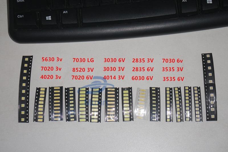 Lighting Accessories The Cheapest Price 17*10pcs 1w Smd Led Kit 3v/6v 2835/3030/2828/3535/5630/7020/7030/4020 Cold White For Tv Backlight Beads