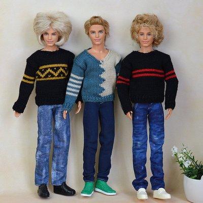 brezplačna oblačila za dostavo Outfit Casual Wear shirt Obleke in hlače za fantovski firend za lutke ken