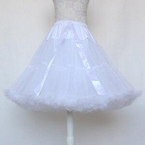 Image 2 - לוליטה תחתונית אישה קצר תחתוניות רוקבילי לפרוע טול שחור לבן אדום נפוח מלאי טוטו חצאית קוספליי קוקטייל שמלה